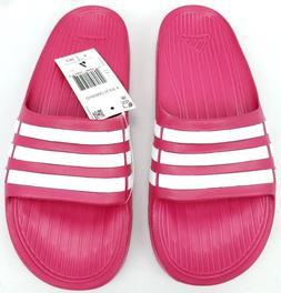 Adidas Duramo Slides Girls Sports Sandals Pink White Flip Fl