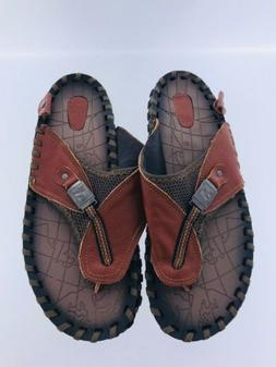 ENLEN & BENNA Men's Size 11 / 12 Brown Leather Supportive Fl