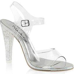 Fabulicous Womens CLEARLY-408MG Ankle Strap Sandal Mini Irid