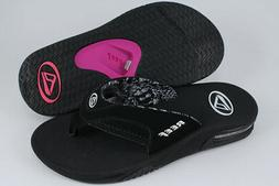 REEF FANNING BLACK/WHITE/GRAY/PINK PURPLE FLIP FLOPS THONG S