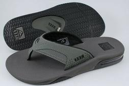 REEF FANNING GRAY/BLACK FLIP FLOPS THONG SANDALS BEACH MICK