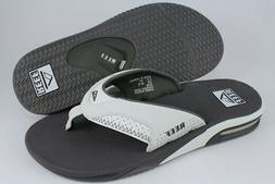 REEF FANNING GRAY/WHITE FLIP FLOPS THONG SANDALS BEACH MICK