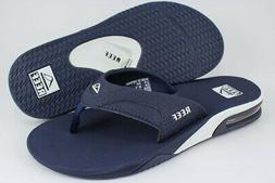 REEF FANNING NAVY BLUE/WHITE FLIP FLOPS THONG SANDALS BEACH