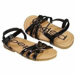 bebe Fashion Patent Pu Slingback Flat Flip Flop Sandal Shoes