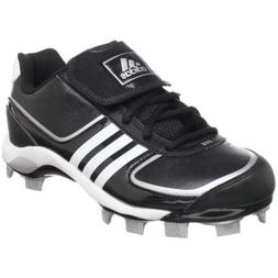 Adidas Women's Fastpitch 4 Low Tpu Molded Cleats, Black/Whit