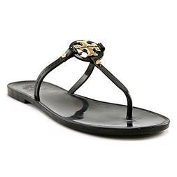 Women's Tory Burch 'Mini Miller' Flat Sandal, Size 7 M - Bla