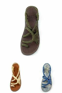 Flat Sandals For Women Palm Leaf 5  to  11 US Size Beach Fli
