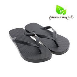 Memorygou Flip-Flops Beach Slim Sandal for Women/Men, Black