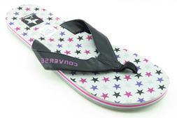 Converse Flip Flops Black Synthetic Women Shoes Size 11 Medi