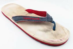 Converse Flip Flops Blue Fabric Women Shoes Size 11 Medium
