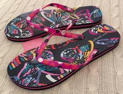 Vera Bradley Flip Flops Butterfly Flutter Women Size 7, 8 Me