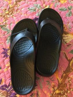 Nuusol Flip Flops Cascade Eclipse Black NEW Size W10 M9 Made
