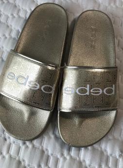 flip flops for women size 9 gold Bebe