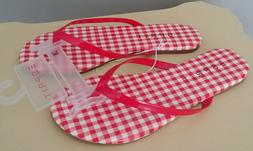 ESPRIT Flip Flops Girls Size 2-M PARTY Sandals Red White Che