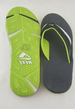 REEF Flip Flops Mens 11 Grey Volt Low Sandals