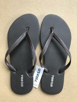 Flip Flops NWT Old Navy Classic Thong Sandals Women Brown Sh