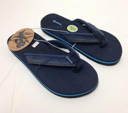 Just Speed Flip-Flops Sandals For Boys Soft Slide On, Navy B