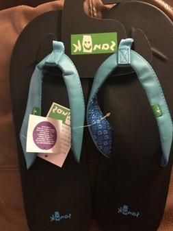 SANUK Flip Flops Size 11 AQUA Women's Yoga Mat WANDER Sandal