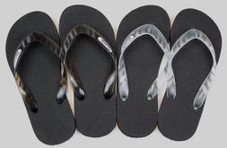 Locals Flip Flops Slippers Black Clear Hawaii Rubber Men's W