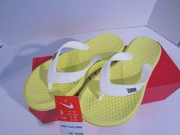 Nike Flip Flops Solay Thong Sandals Yellow Women's  New NWT