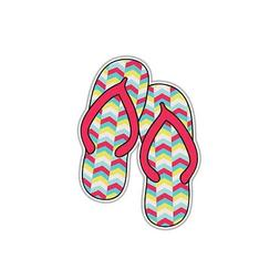 flip flops sticker red beach