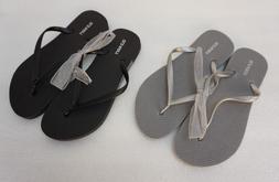 Old Navy Flip Flops Thongs Black or Silver