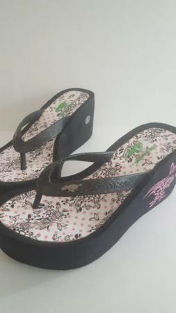 flip flops women size 6 wedge heel