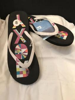 Roxy Flip Flops Womens Sandals Guava Polka Dot   size 8