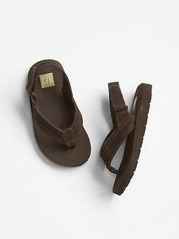 GAP Baby / Toddler Boys Size 9T / 10T Brown Suede Ankle-Stra