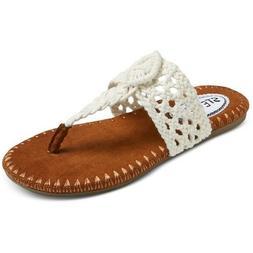 Stevies Girls' #adorableknits Crochet Flip Flop Sandals - Iv