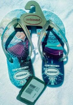 girls havaianas Disney Frozen sandles flip flops new size 1
