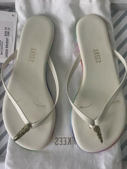 Girls Size 3 TKEES Unicorn Flip Flops
