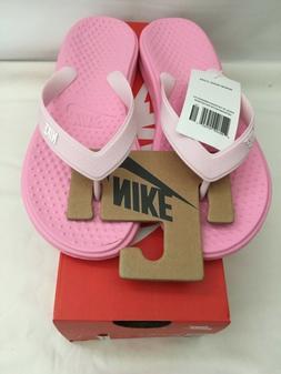 Nike Girls Solay Thong  Pink Flip Flops 882827 601 Size 5Y