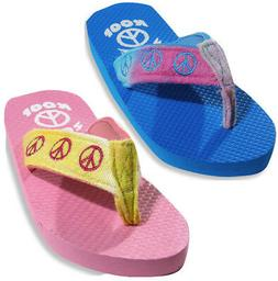 Sole Kool Girls Terry Cloth Strap Thong Flip Flop Shoe for B