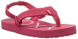 Roxy Girls' TW Vista 3 Point Sandal Flip-Flop, Berry, 8 M US