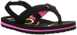 Roxy Girls' TW Vista 3 Point Sandal Flip-Flop, Black, 8 M US