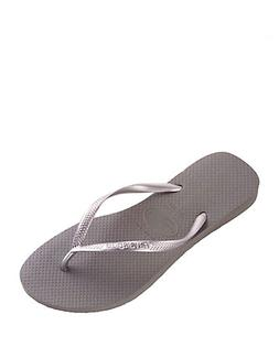 Havaianas Grey Basic Slim Flip-Flops