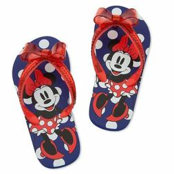 Disney Store Happy Feet Minnie Mouse Flip Flops for Kids 9/1