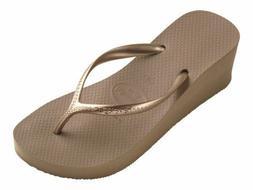 Havaianas Women's Flip Flops High Rose Gold Wedge Sandal 2 1