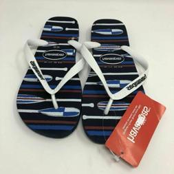 Havianas Men's Flip Flops Mens US 9/10 Blue Striped Rubber N