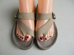 Mephisto Helen Leather Sandals Light Taupe Size 6 / 36 New $