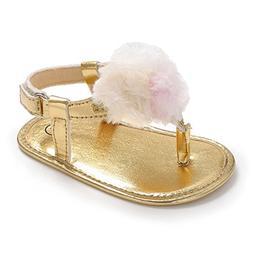 BENHERO Infant Baby Girls Summer Shoes Bling Tassel Soft Sol