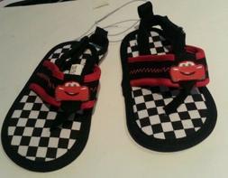 Infant Boys Disney Pixar Black White Checked Red Trim Flip F