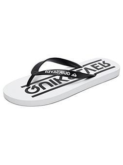 Quiksilver Java Wordmark Flip Flops - Black/White / White UK