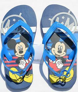Kids Boys DISNEY MICKEY MOUSE Flip Flops Sandals Thongs Blue
