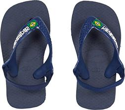 Havaianas Kids' Flip Flop Sandal, Brazil Logo with Backstrap