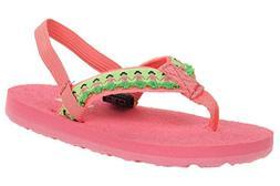 Teva Kids' Hula Girls Flip Flop,Hula Girl Tropical Pink,4-5