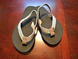 Kids Rainbow Sandals Sandiva Glitter Flip Flops Silver 5/6 w