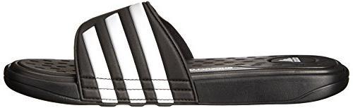 adidas SC Sandal,Black/White/Black,10