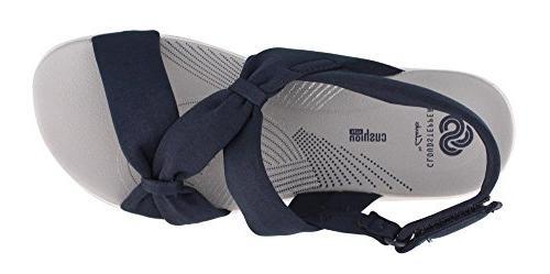 CLARKS Women's Sandal, Blue 9